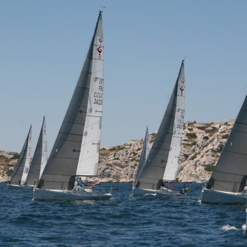 La flotte Team Winds en rade de Marseille