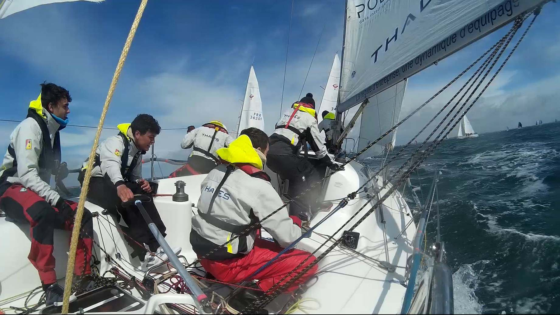 Equipage de l'ISEP Voile en Grand Surprise Team Winds au Spi Ouest France 2018